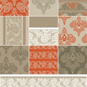 Link toVector set of floral seamless pattern 03