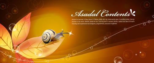 Snail with golden background vector 05