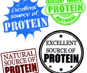 Stamp Proteins vector