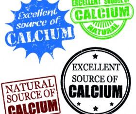 Stamp calcium vector