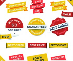 Sale Sticker labels and tags vector 02