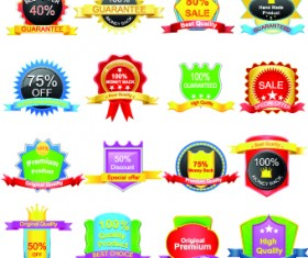 Sale Sticker labels and tags vector 03