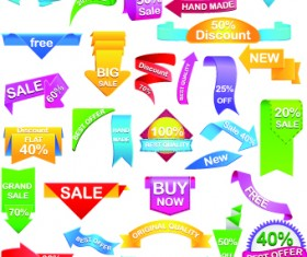 Sale Sticker labels and tags vector 06
