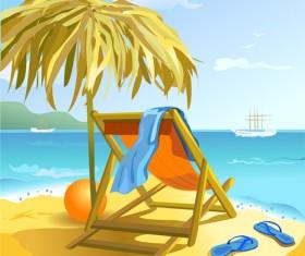 Summer beach travel backgrounds vector 01