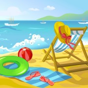 Link toSummer beach travel backgrounds vector 03