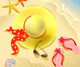Summer beach travel backgrounds vector 05