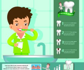 Creative teeth care infographics vectors 01