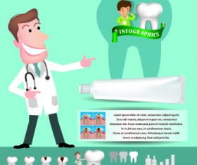 Creative teeth care infographics vectors 03