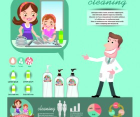 Creative teeth care infographics vectors 04