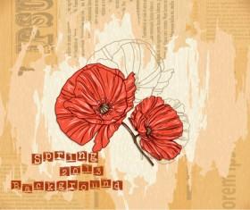 Vector Floral background art set 01