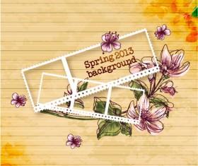 Vector Floral background art set 02