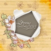 Link toVector floral background art set 03