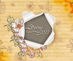 Vector Floral background art set 03