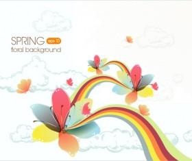 Vector Floral background art set 04