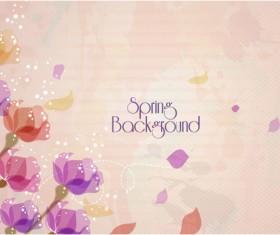 Vector Floral background art set 05