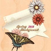 Link toVector floral background art set 27