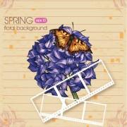 Link toVector floral background art set 28
