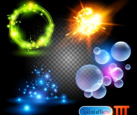Colored Glowing light Effects vector 01