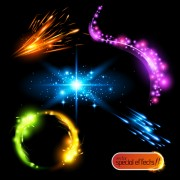 Link toColored glowing light effects vector 02