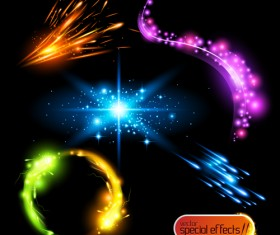 Colored Glowing light Effects vector 02