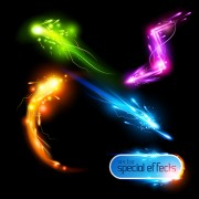 Link toColored glowing light effects vector 03