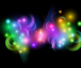 Colored Glowing light Effects vector 04