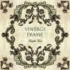 Vintage frame with floral elements vector 03