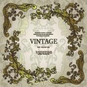 Link toVintage frame with floral elements vector 05