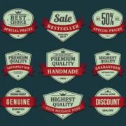 Link toVintage ribbon sale labels vector 01
