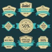Link toVintage ribbon sale labels vector 03