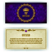 Link toLuxurious vip invitation cards vector 03