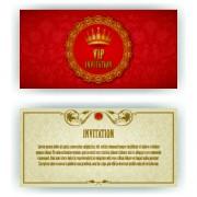 Link toLuxurious vip invitation cards vector 05