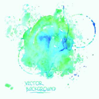 Watercolor art background vector 01