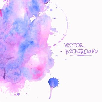 Watercolor art background vector 03