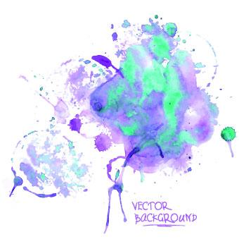 Watercolor art background vector 04