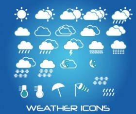 Weather icons mobile Application vector 01