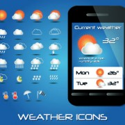 Link toWeather icons mobile application vector 05