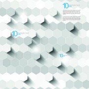 Link toWhite 3d shapes background vector 01