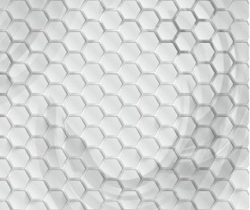 White 3D shapes background vector 09