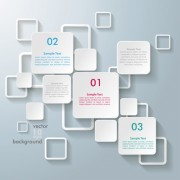 Link toWhite text boxes backgrounds vector 03