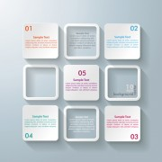 Link toWhite text boxes backgrounds vector 04