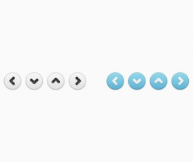 White and Blue button psd