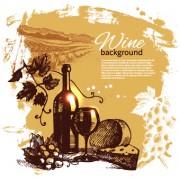 Link toRetro style wine background vector 01
