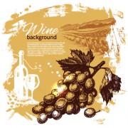 Link toRetro style wine background vector 02