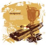 Link toRetro style wine background vector 05