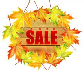 Creative Autumn sale design vector 04