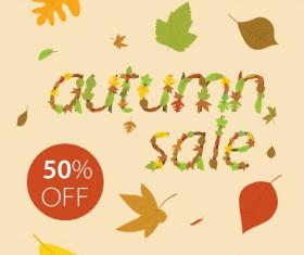Creative Autumn sale design vector 05