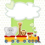 Link toPaper art baby backgrounds vector 05