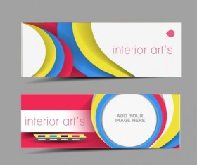 Stylish elements banners vector 01