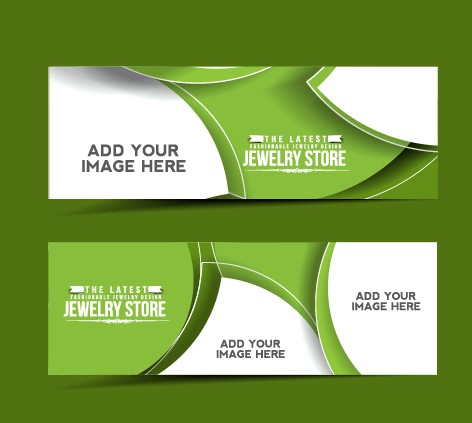 Stylish elements banners vector 03